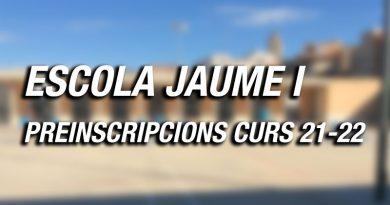 Escola Jaume I – Preinscripció